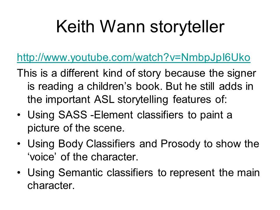 Keith Wann storyteller