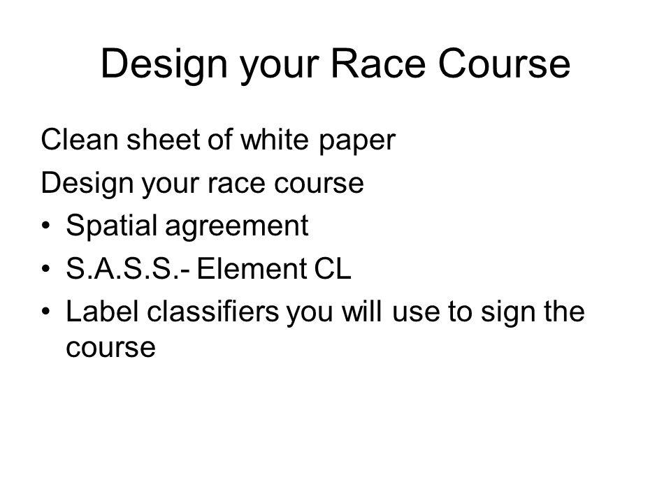 Design your Race Course