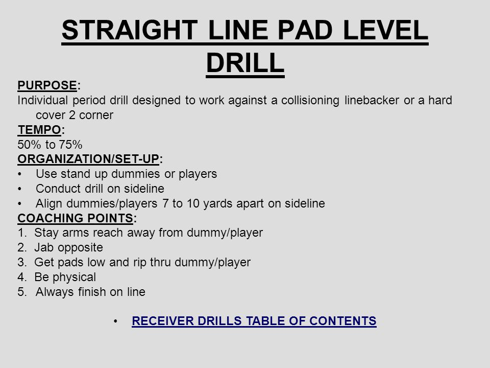 STRAIGHT LINE PAD LEVEL DRILL