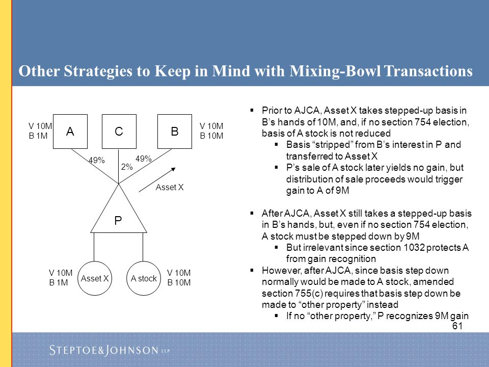Other Strategies to Keep in Mind with Mixing-Bowl Transactions