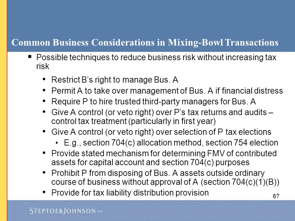 Common Business Considerations in Mixing-Bowl Transactions