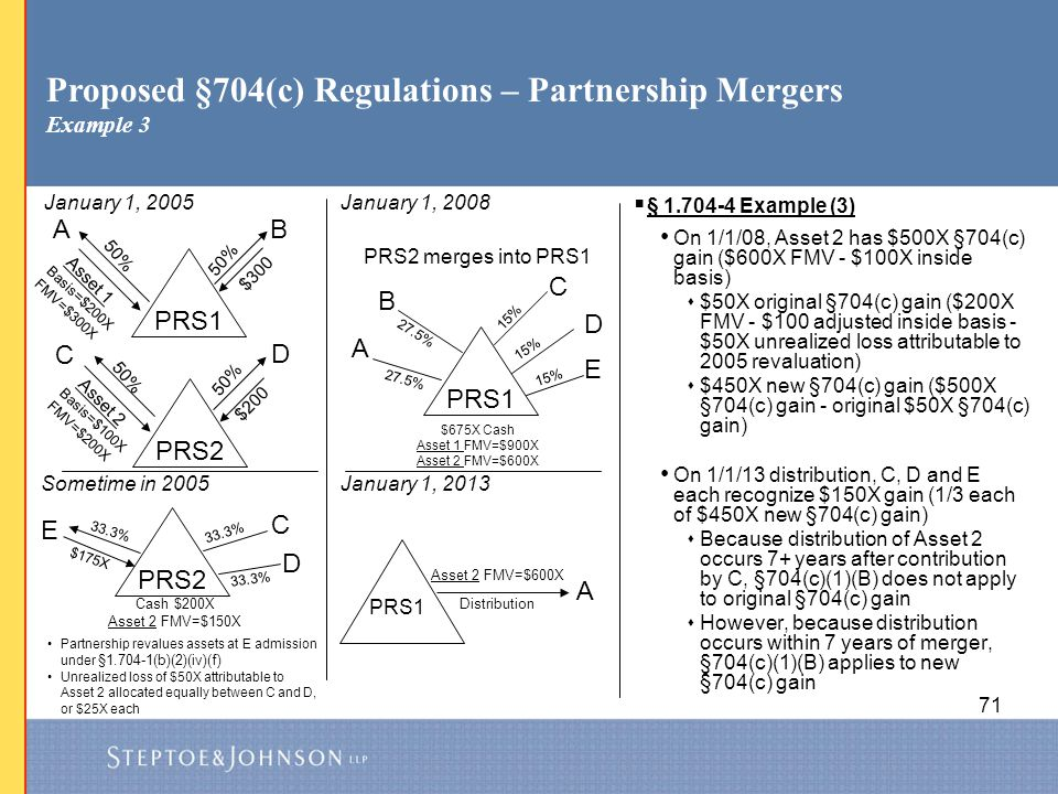Proposed §704(c) Regulations – Partnership Mergers