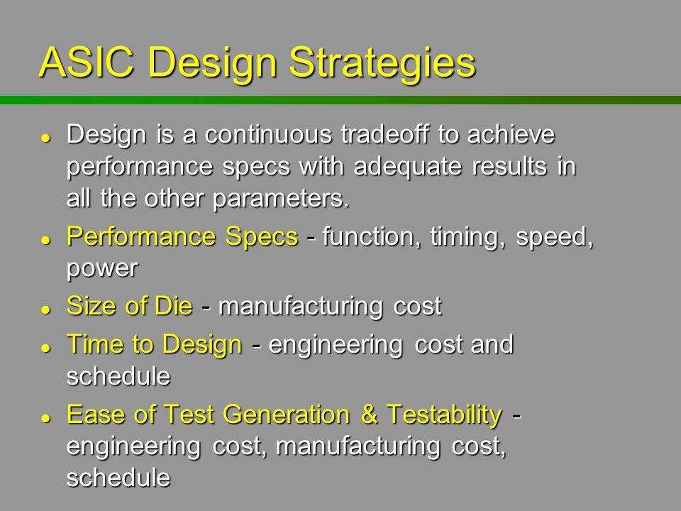 ASIC Design Strategies