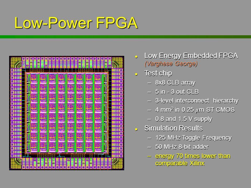 Low-Power FPGA Low Energy Embedded FPGA (Varghese George) Test chip