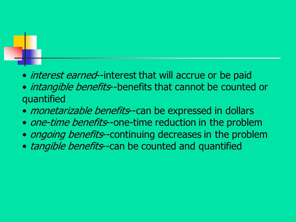 interest earned--interest that will accrue or be paid