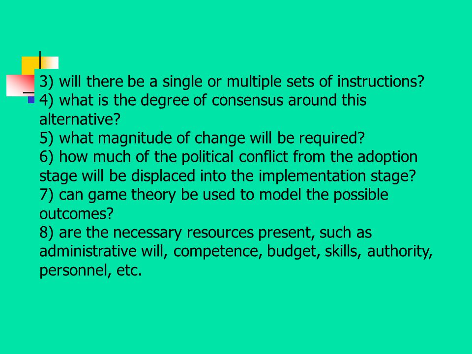 3) will there be a single or multiple sets of instructions