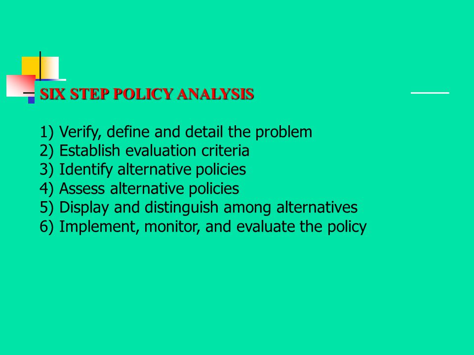 SIX STEP POLICY ANALYSIS