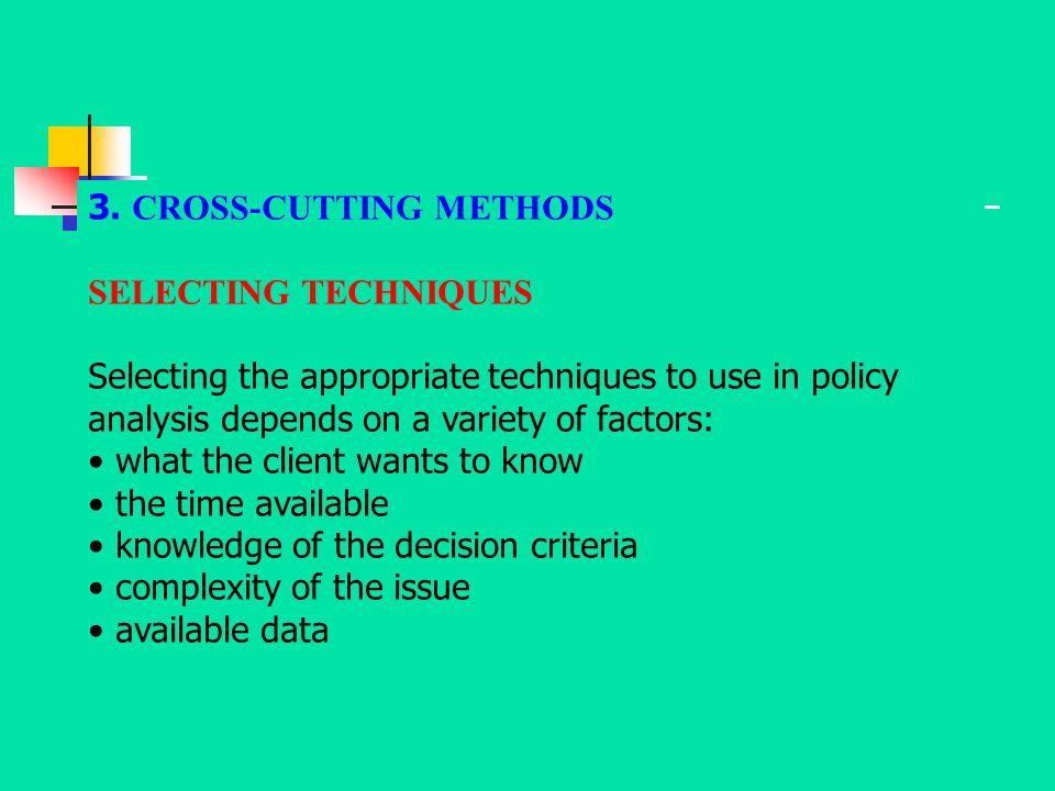 3. CROSS-CUTTING METHODS