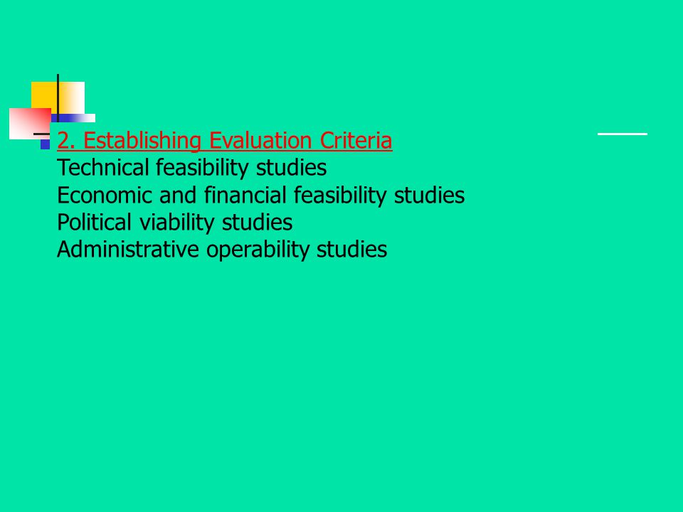 2. Establishing Evaluation Criteria