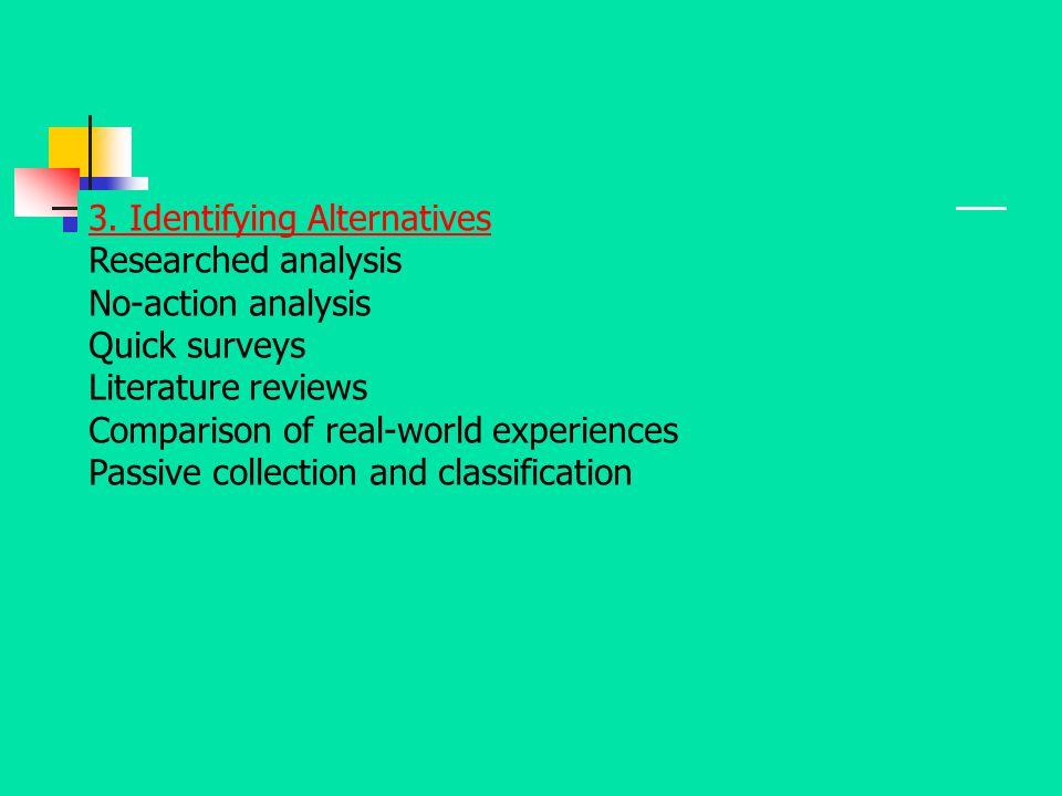 3. Identifying Alternatives