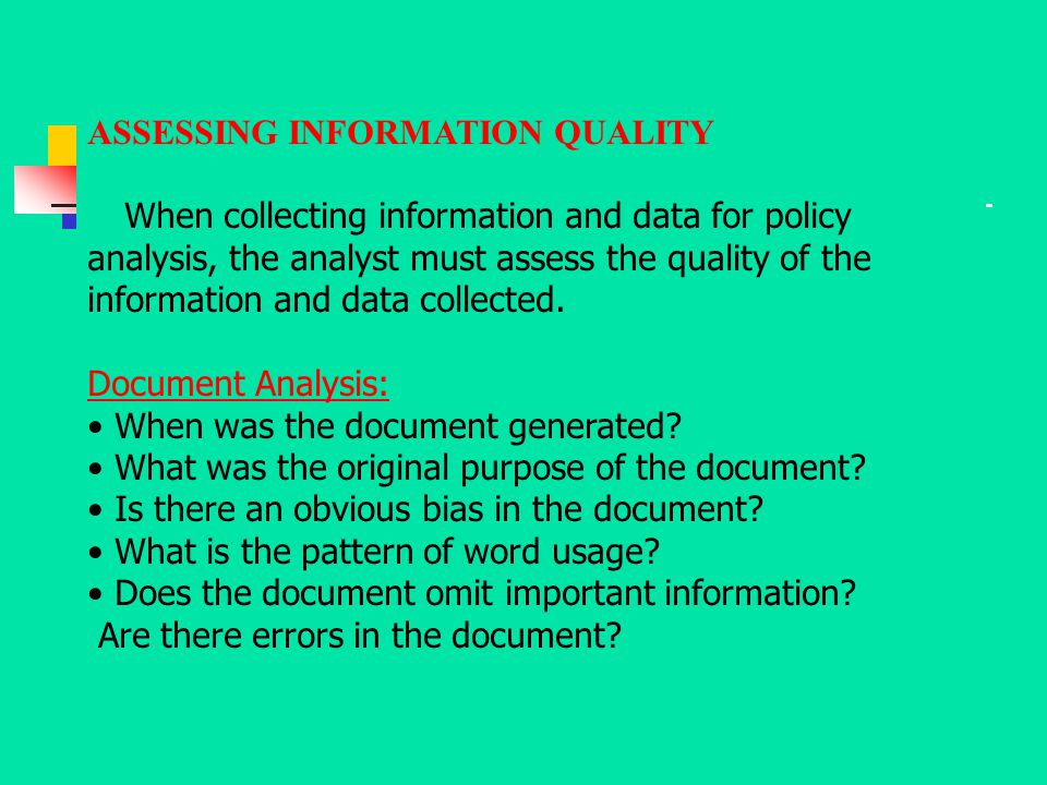 ASSESSING INFORMATION QUALITY
