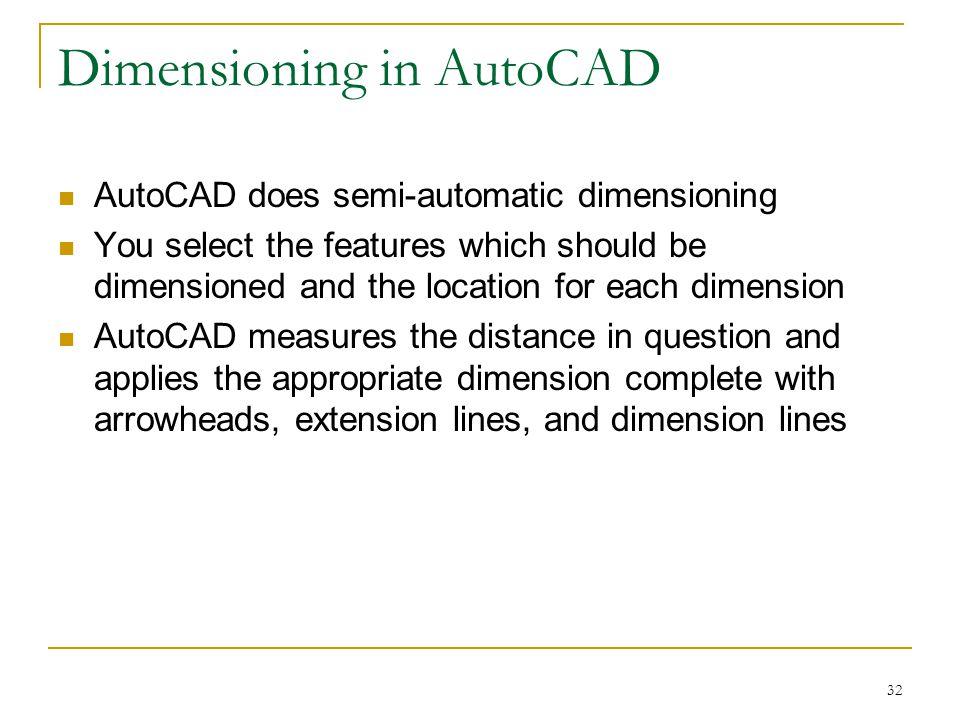 Dimensioning in AutoCAD