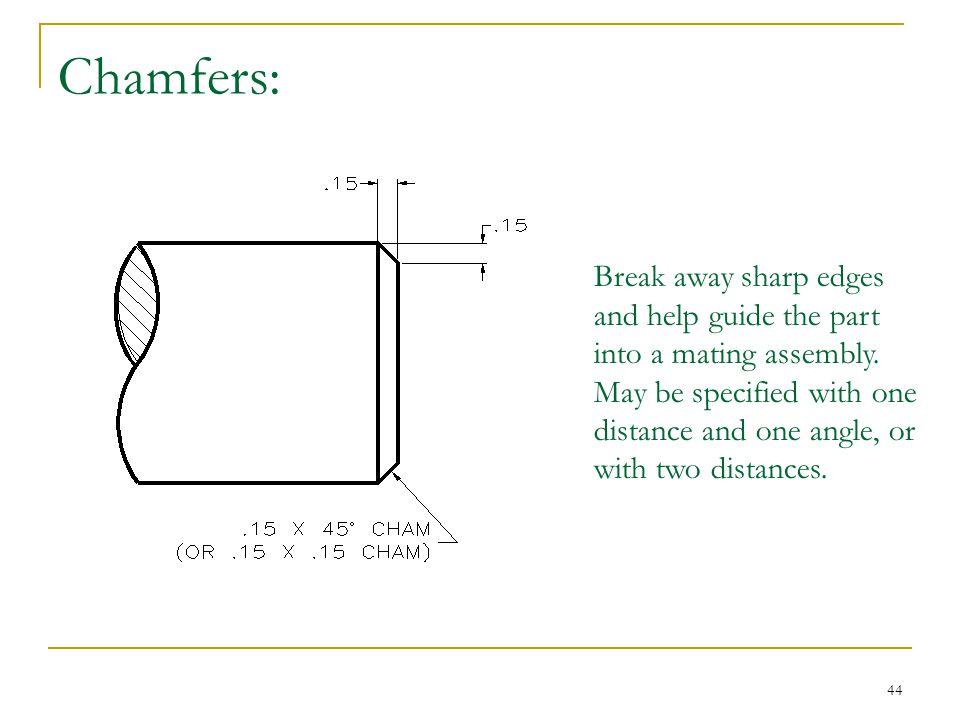 Chamfers: