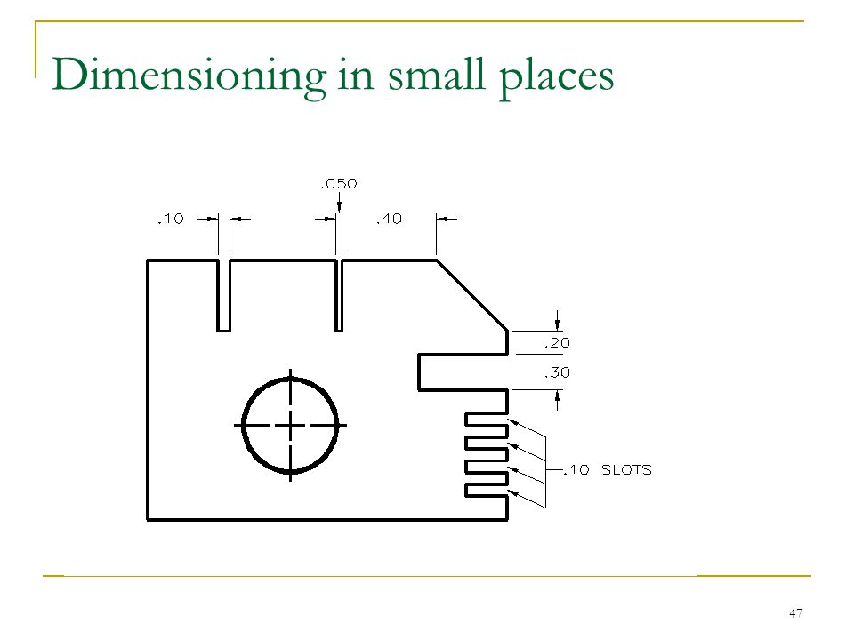 Dimensioning in small places