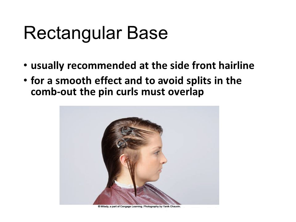Rectangular Base usually recommended at the side front hairline