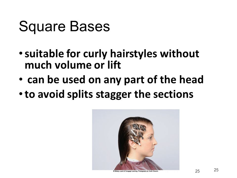 Square Bases suitable for curly hairstyles without much volume or lift