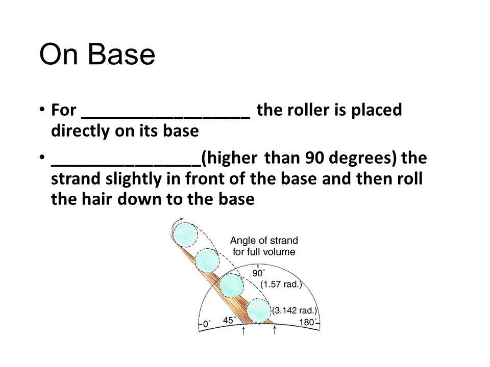 On Base For __________________ the roller is placed directly on its base.