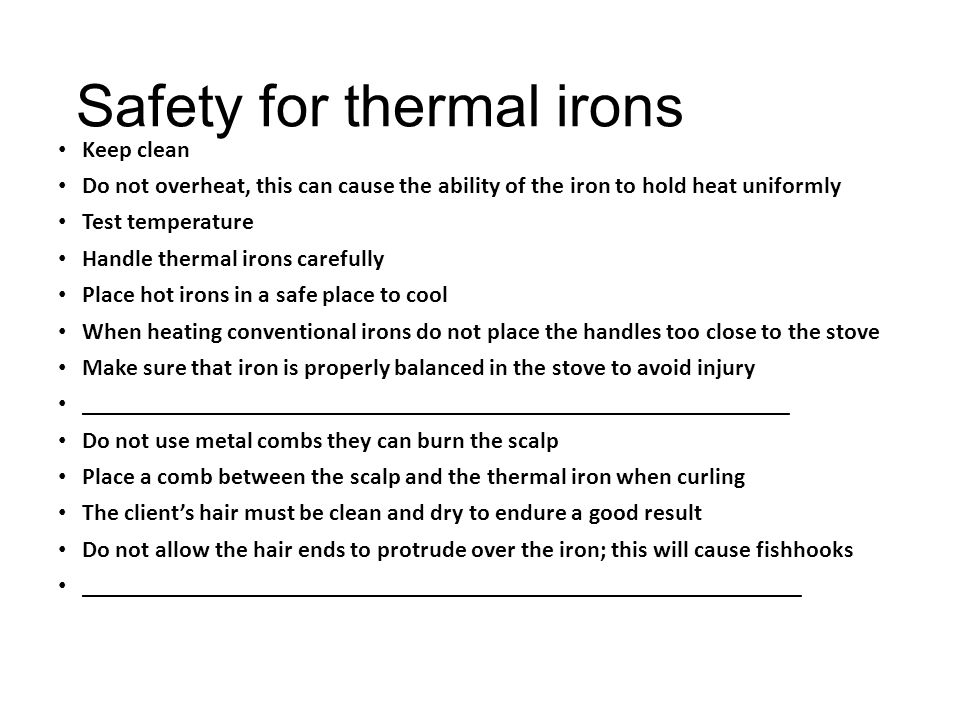 Safety for thermal irons