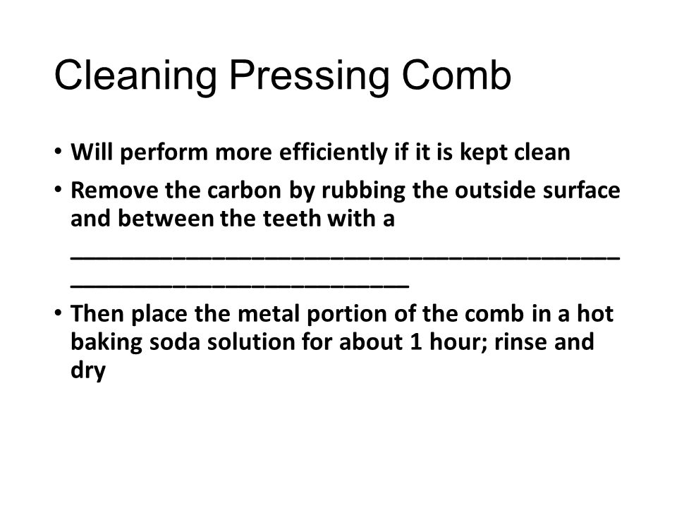 Cleaning Pressing Comb