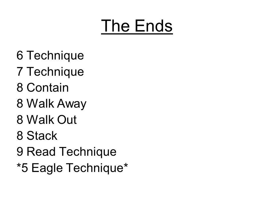 The Ends 6 Technique 7 Technique 8 Contain 8 Walk Away 8 Walk Out