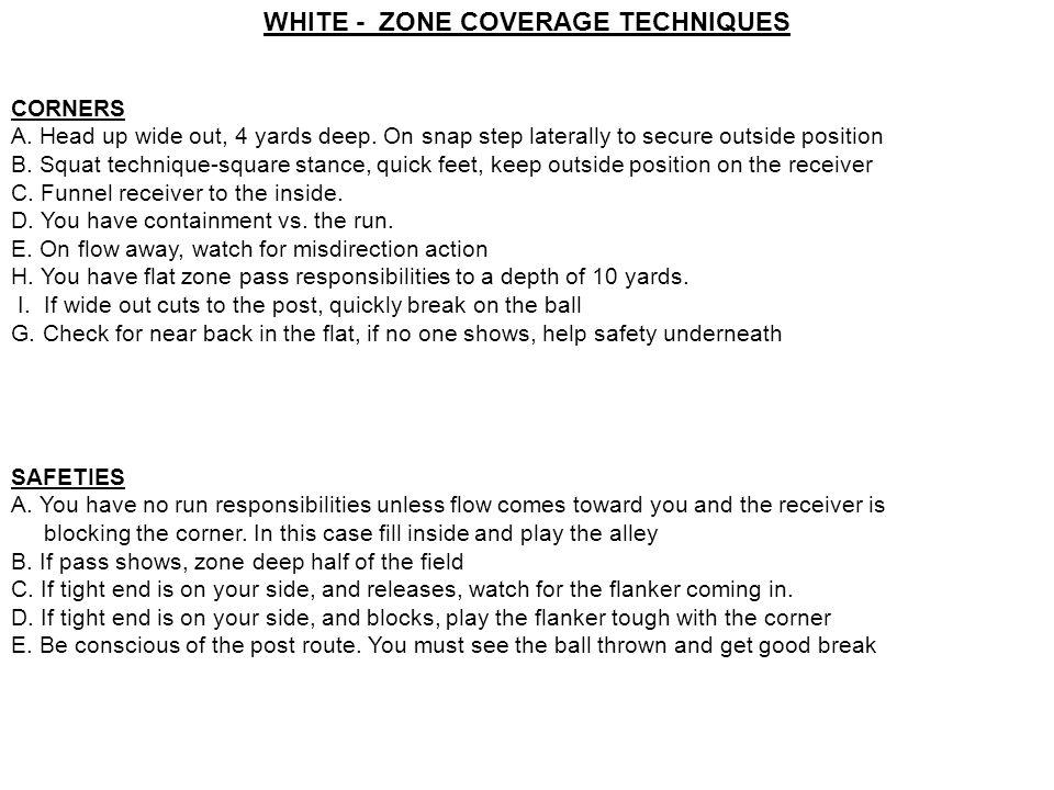 WHITE - ZONE COVERAGE TECHNIQUES