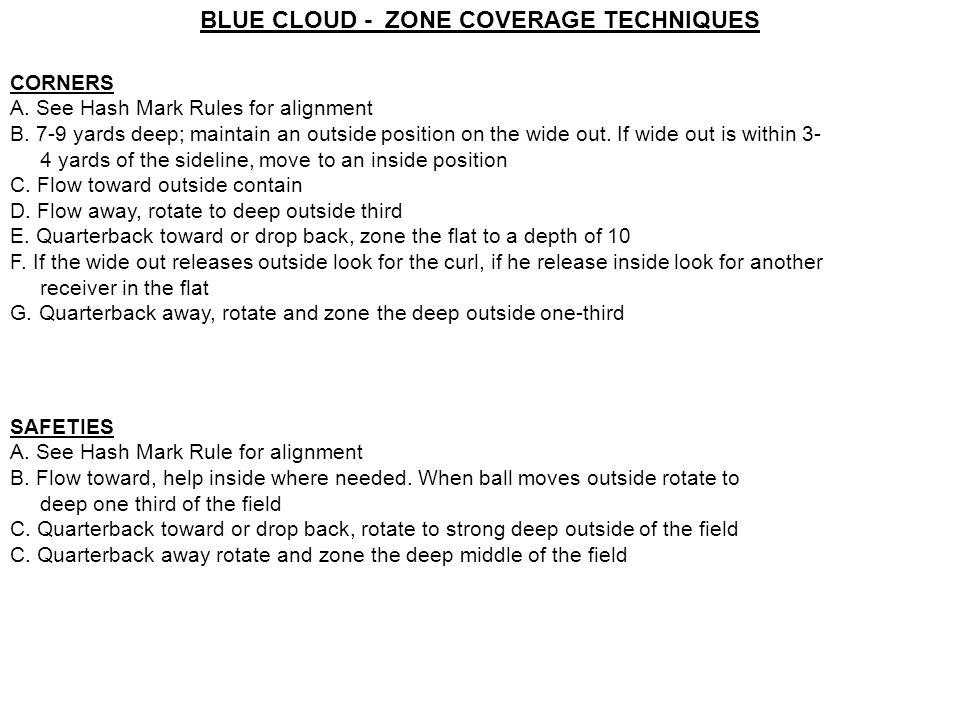 BLUE CLOUD - ZONE COVERAGE TECHNIQUES