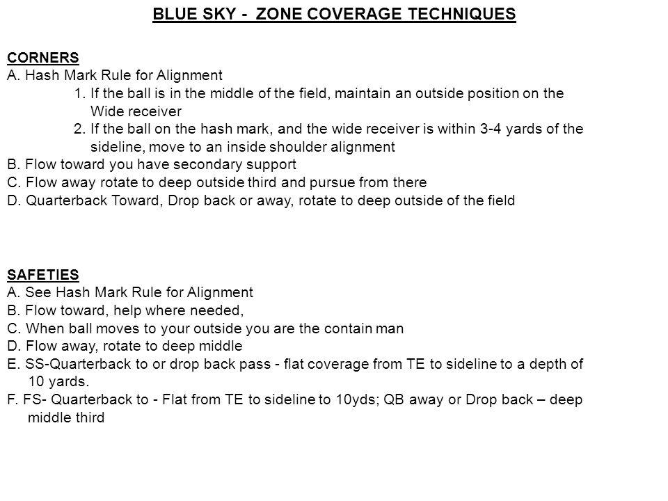 BLUE SKY - ZONE COVERAGE TECHNIQUES