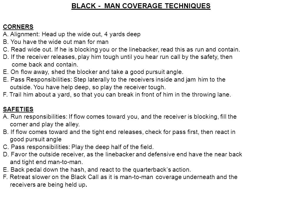 BLACK - MAN COVERAGE TECHNIQUES