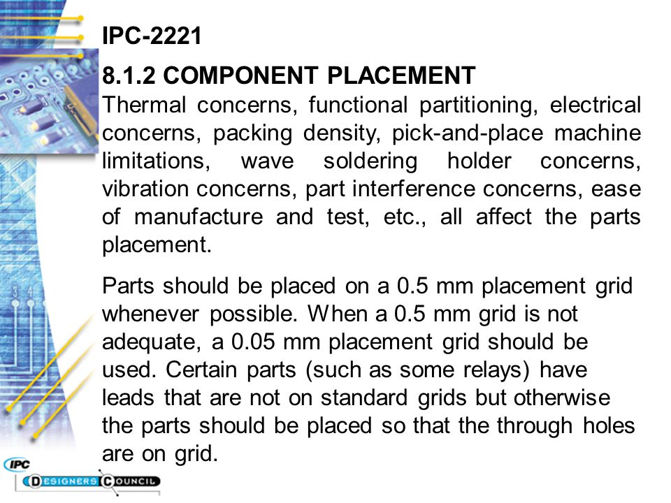 IPC COMPONENT PLACEMENT