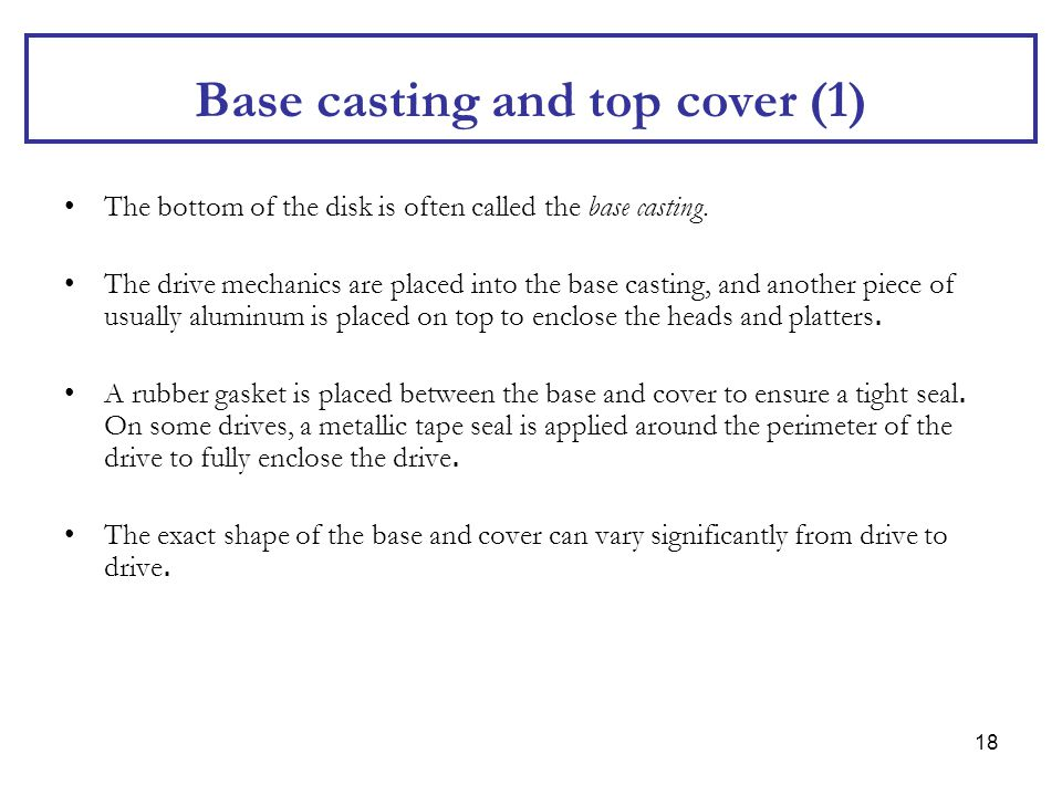Base casting and top cover (1)