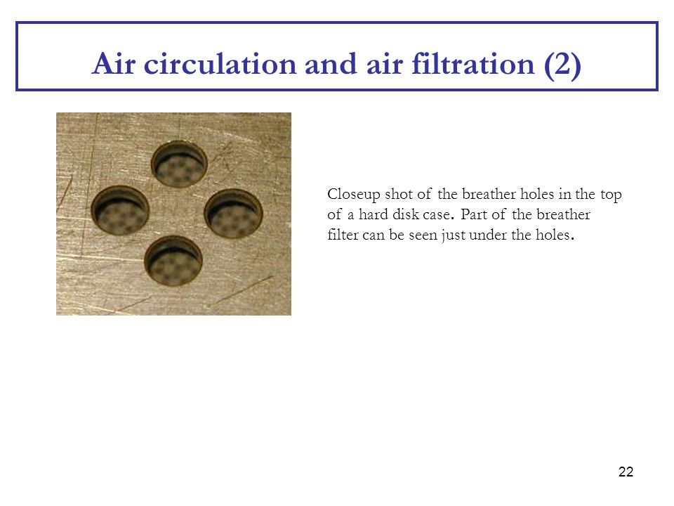 Air circulation and air filtration (2)