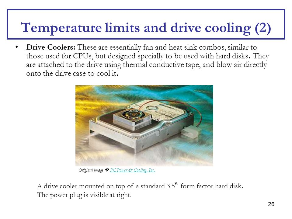Temperature limits and drive cooling (2)