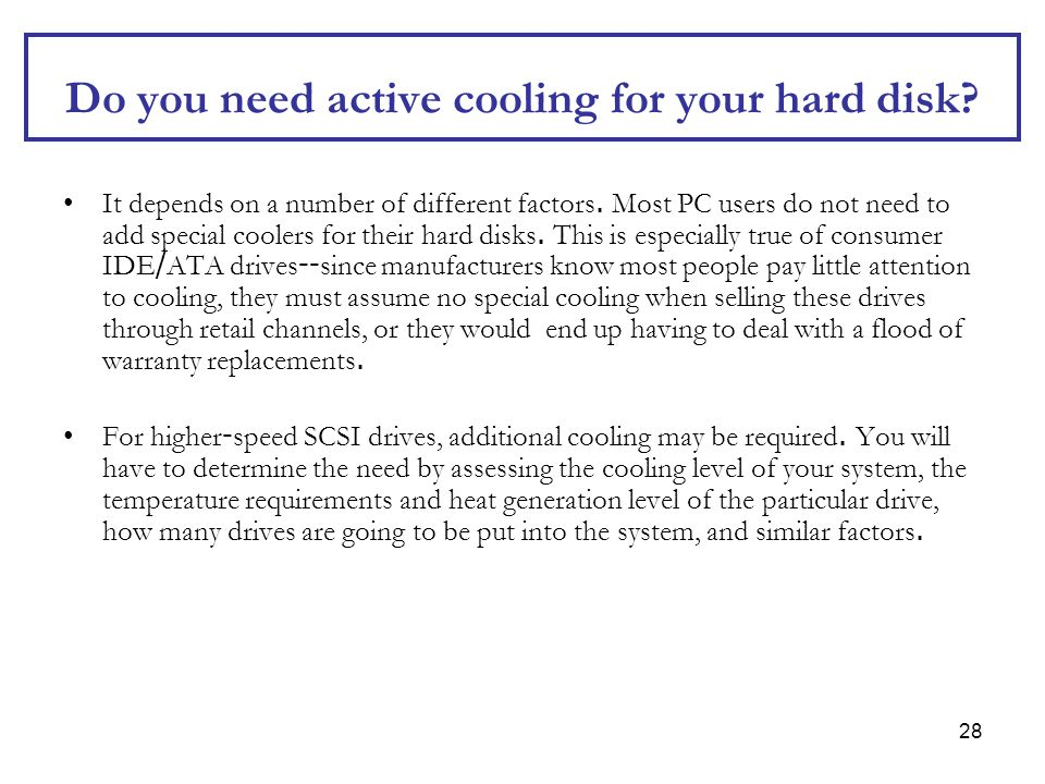 Do you need active cooling for your hard disk