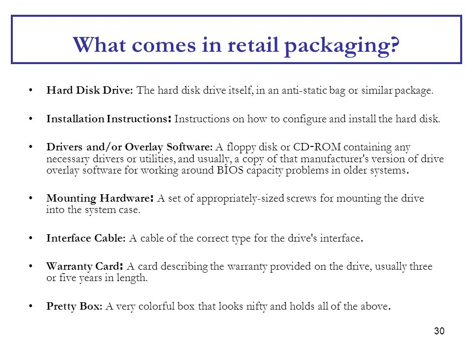 What comes in retail packaging