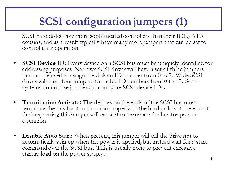 SCSI configuration jumpers (1)