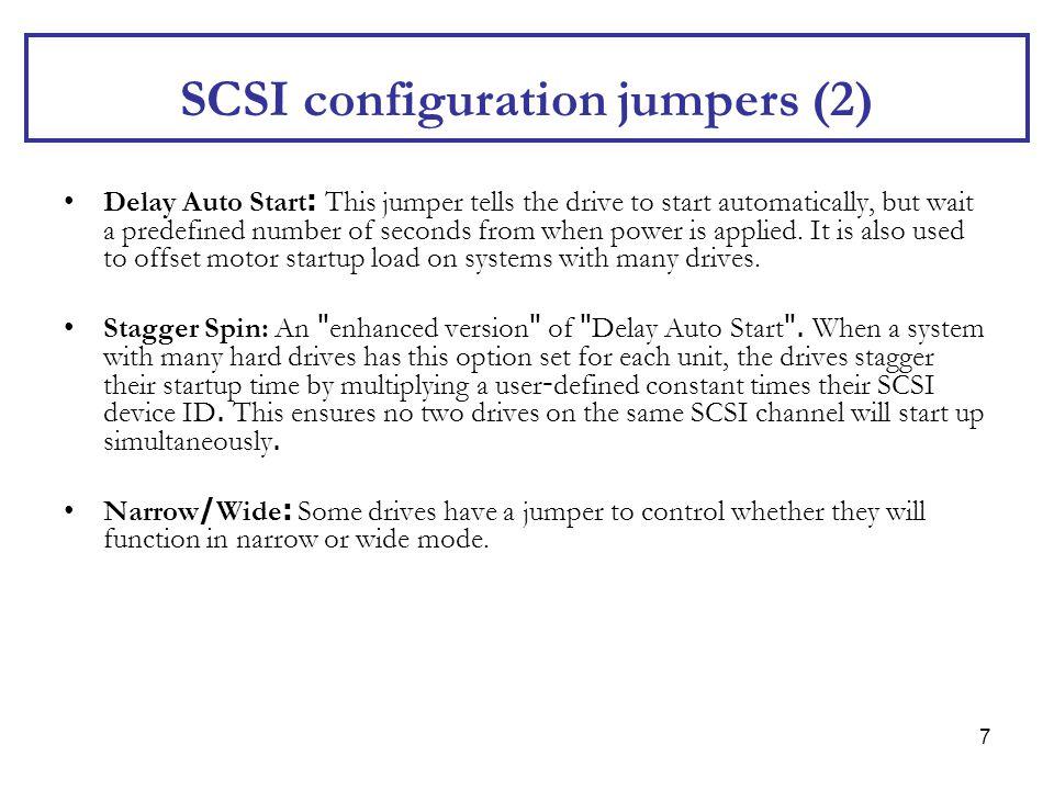 SCSI configuration jumpers (2)
