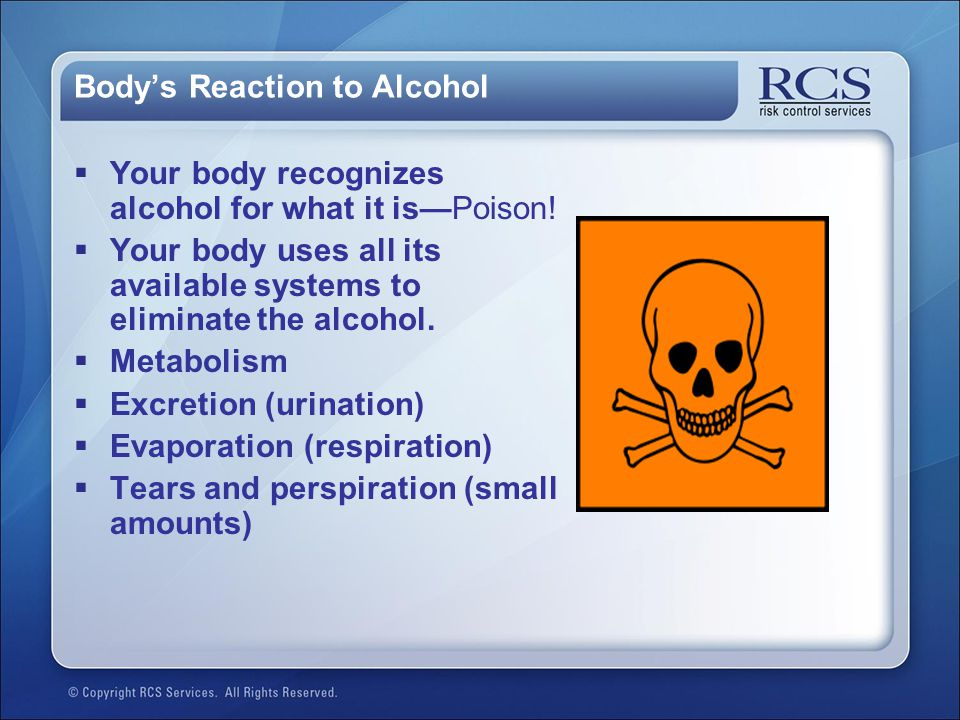 Body's Reaction to Alcohol