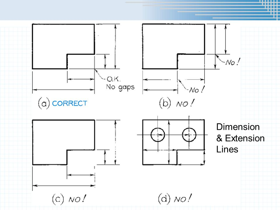 Dimension & Extension Lines