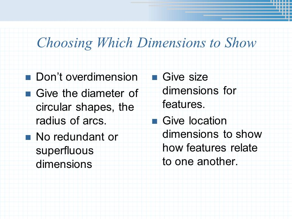 Choosing Which Dimensions to Show