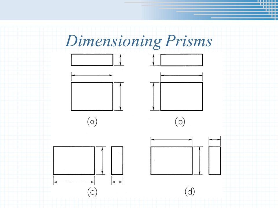 Dimensioning Prisms