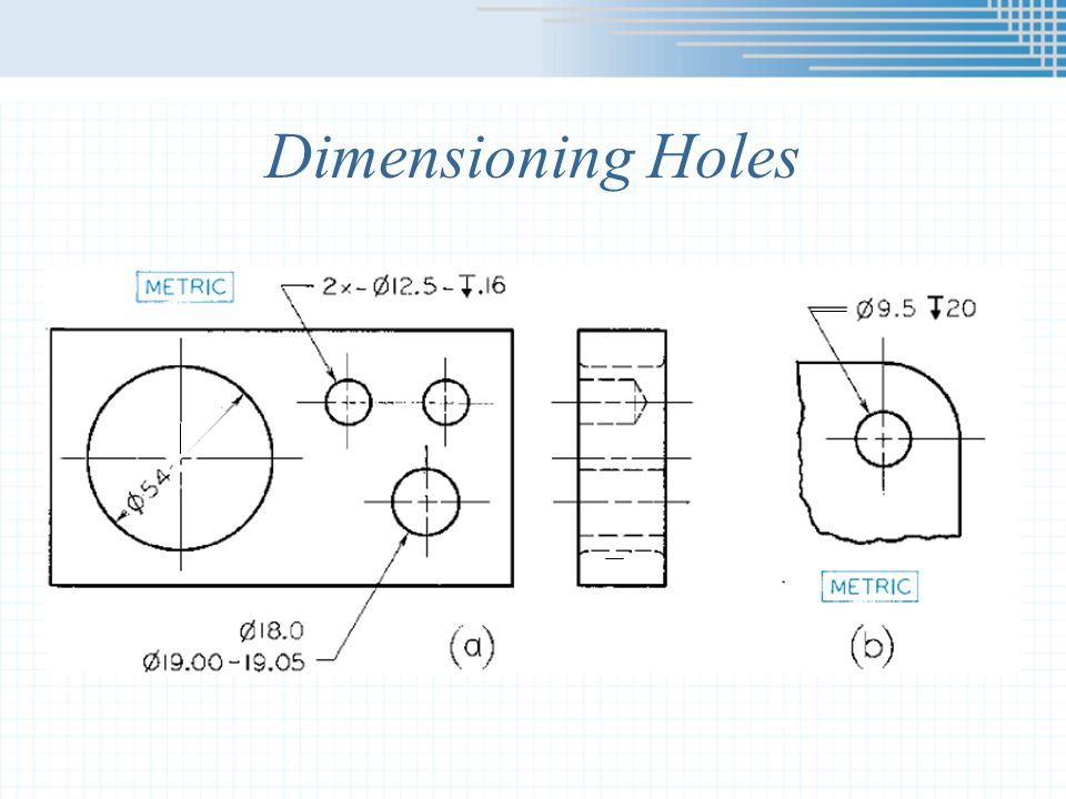 Dimensioning Holes