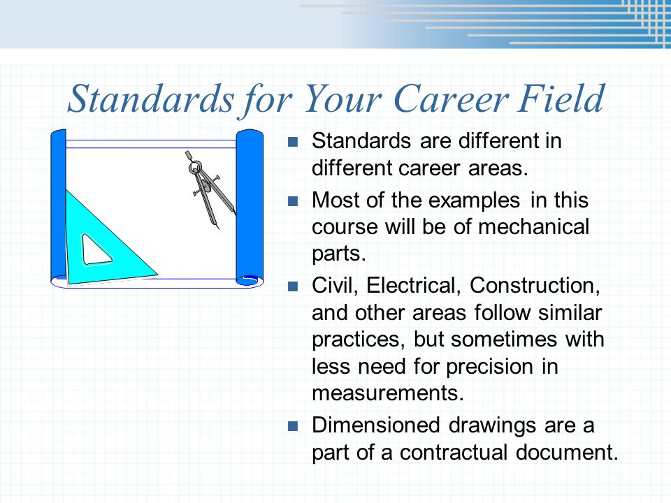 Standards for Your Career Field
