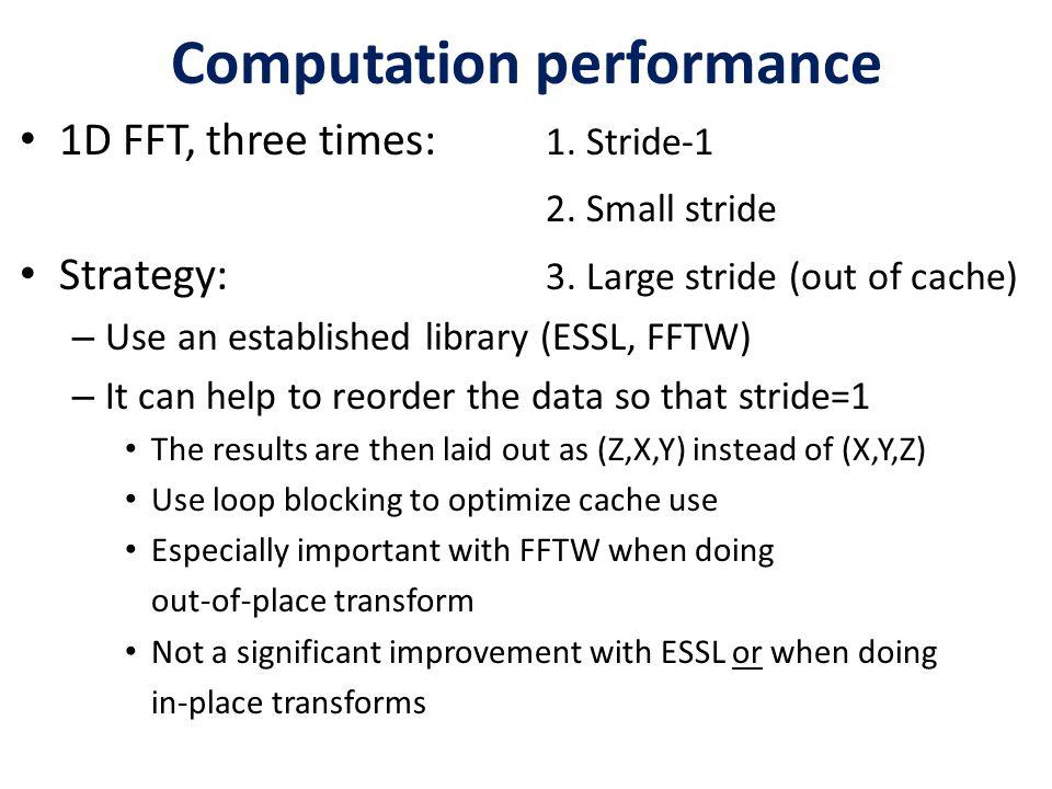 Computation performance