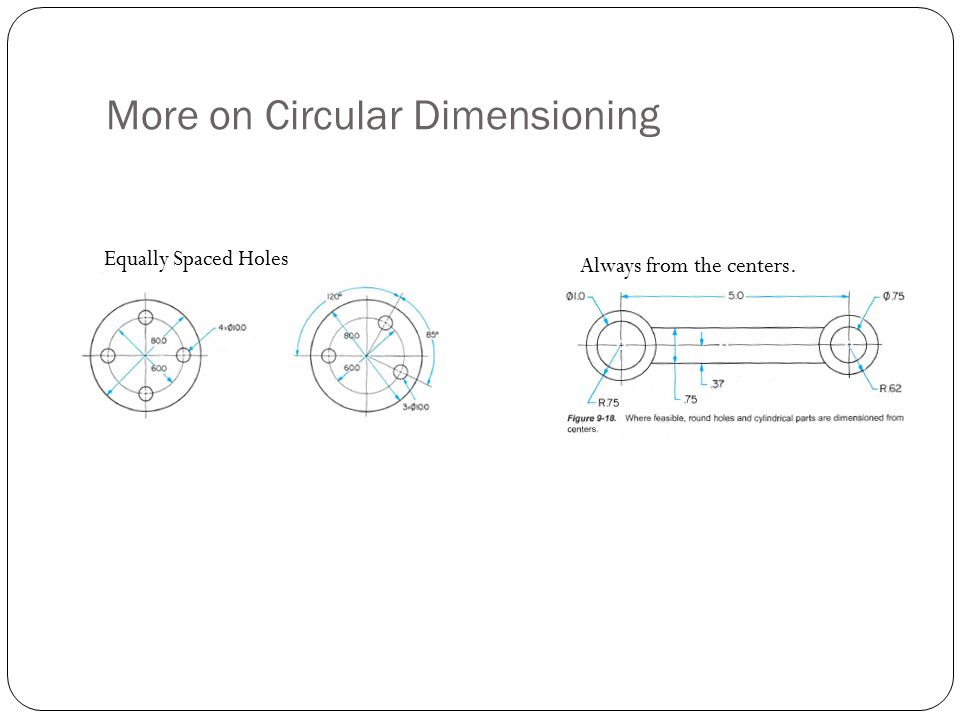More on Circular Dimensioning