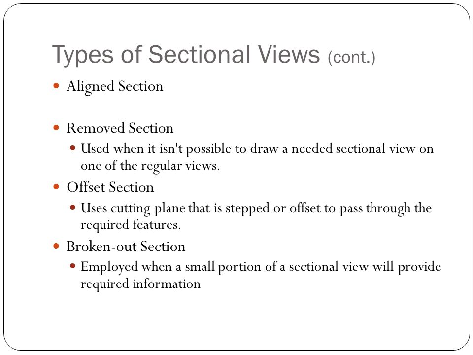 Types of Sectional Views (cont.)