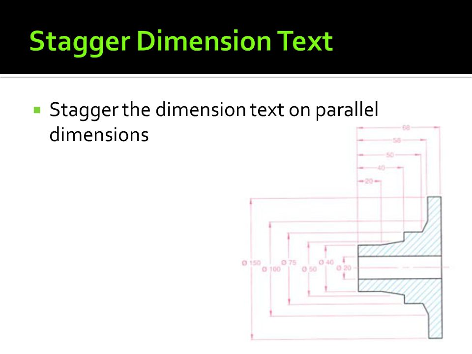Stagger Dimension Text