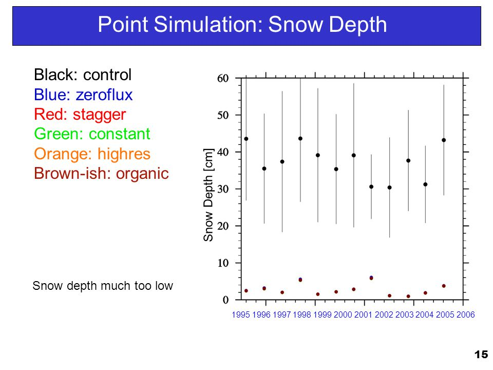 Point Simulation: Snow Depth