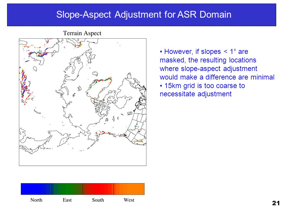 Slope-Aspect Adjustment for ASR Domain