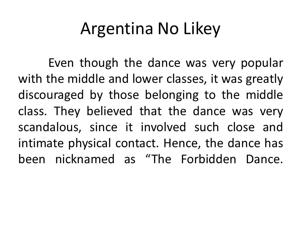 Argentina No Likey