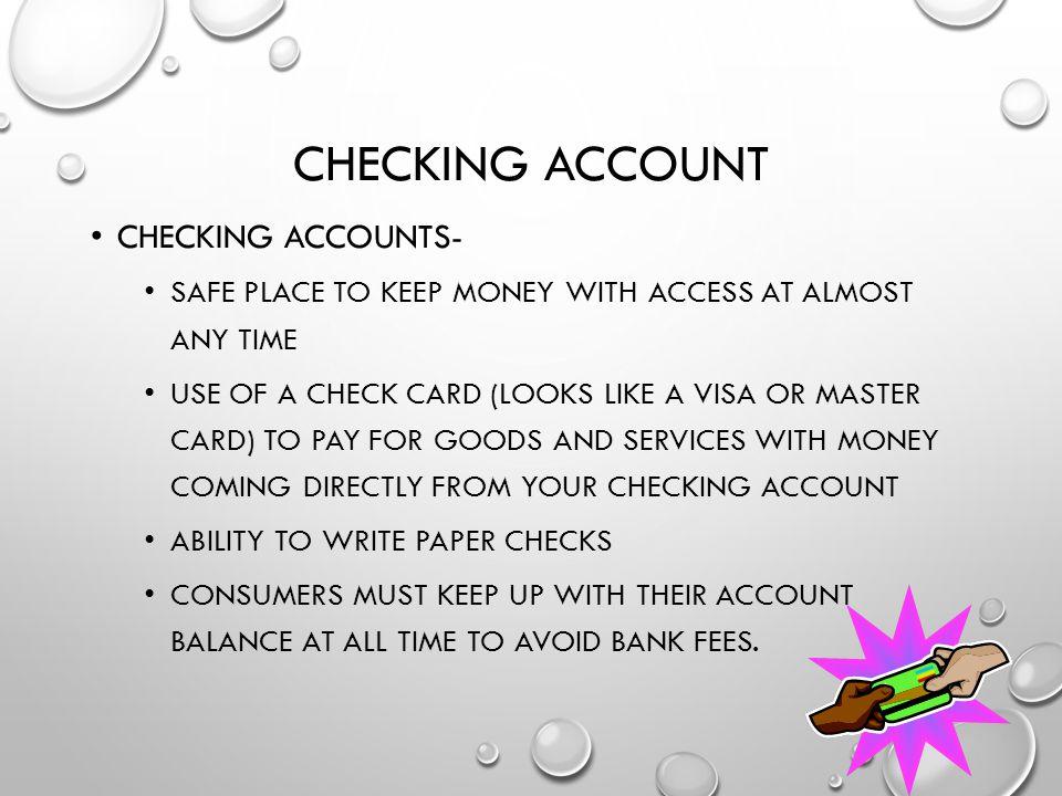 Checking account Checking accounts-